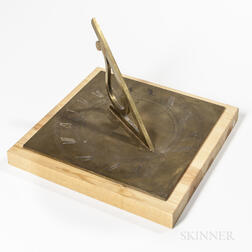 Wm. J. Young Engraved Brass Sundial