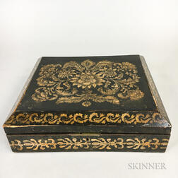 Chinese Export Lacquered Games Box