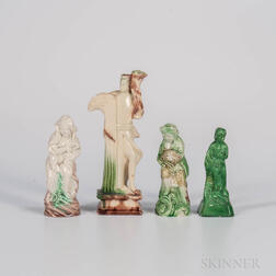 Four Staffordshire Figures of the Seasons