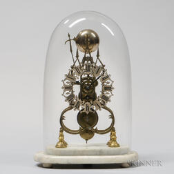Scroll-plate Striking Skeleton Clock