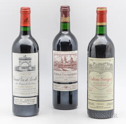 Mixed 1995 Bordeaux, 3 bottles