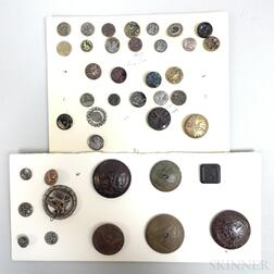 Small Group of Mostly Molded Plastic and Metal Buttons.     Estimate $20-200