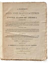 Coxe, Tench (1755-1824) A Statement of the Arts and Manufactures of the United States of America for the Year 1810, with a Receipt Sign