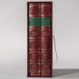 Johnson, Samuel (1709-1784) Facsimile Edition of A Dictionary of the English Language.