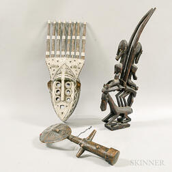 Three African Carved Objects
