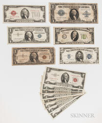 Small Group of American Currency