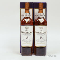 Macallan 18 Years Old, 2 750ml bottles (oc)