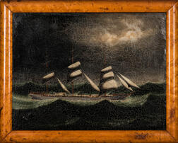 Chinese School, Late 19th Century      Yacht in a Storm