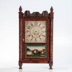 Jerome & Darrow Carved Shelf Clock Case and Dial