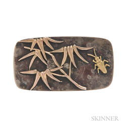 Aesthetic Movement Mixed Metal Brooch, George W. Shiebler & Co.
