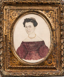 Caroline Hill (Peterborough, New Hampshire, c. 1837)      Portrait of Selinda Hill