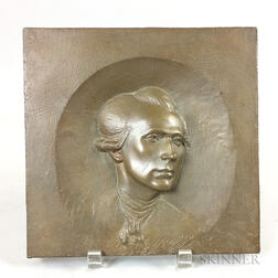 Bronze Portrait Plaque of John Singleton Copley
