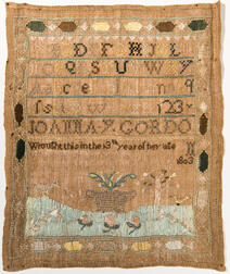 "Needlework Sampler ""Joanna Y. Gordo,"""