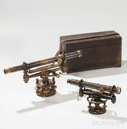 Two James W. Queen & Co. Surveyor's Instruments