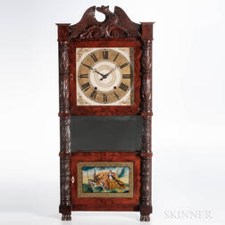 Riley Whiting Eight-day Triple-decker Shelf Clock