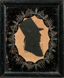 William M.S. Doyle (act. Boston, 1769-1828)      Hollow-cut Silhouette Portrait of Benjamin Richards