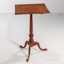 Inlaid Cherry Tilt-top Candlestand