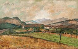 Italian School, 20th Century      Landscape with Distant Mountains