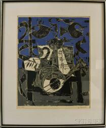 Claude Venard (French, 1913-1999)      Still Life with Guitar
