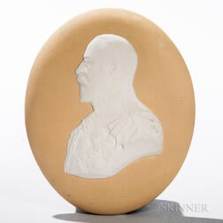 Wedgwood Yellow Jasper Dip Portrait Medallion of Edward VII
