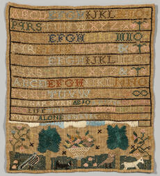 "Needlework Sampler ""Hannah Byrn,"""
