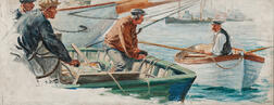 Anton Otto Fischer (American, 1882-1962)      News from the Harbor Master