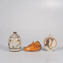 Three Pratt-type Pearlware Items