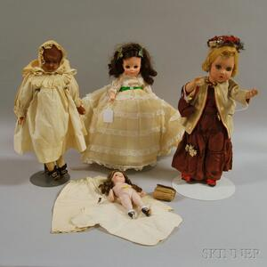 Group of Assorted Dolls and Doll Accessories