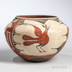 Zia Polychrome Pottery Jar by Serafina Bell