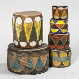 Six Southwest Taos Drums