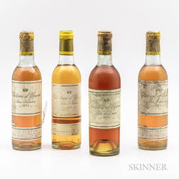 Chateau dYquem, 4 demi bottles