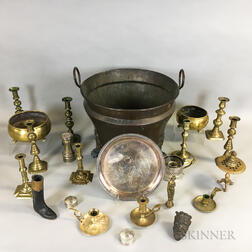 Group of Brass and Silver-plated Items