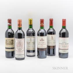 Mixed 1990 Bordeaux, 6 bottles