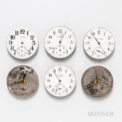 Six Illinois 16 Size Watch Movements
