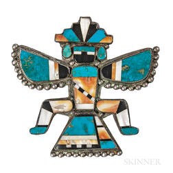 "Zuni Inlay ""Knifewing"" Man Pin"