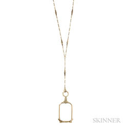 Art Deco 14kt Gold Lorgnette and Chain, Tiffany & Co.