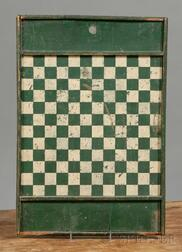 Green and White Painted Game Board
