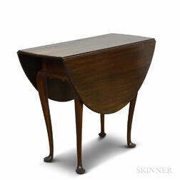 Queen Anne Maple Oval-top Drop-leaf Table