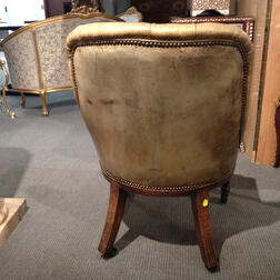 William IV Rosewood Leather-upholstered Desk Chair