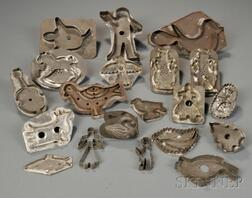 Nineteen Assorted Tin Cookie Cutters