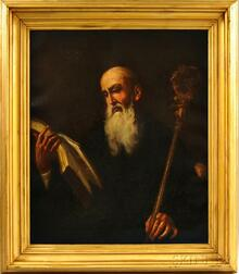 Continental School, 18th/19th Century      Portrait of a Bearded Man, Thought to be St. John or St. Romuald