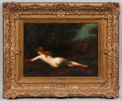 Jean Jacques Henner (French, 1829-1905)      Nude Reclined in a Landscape