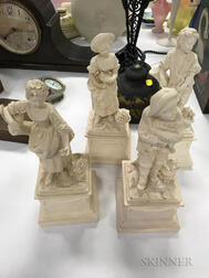 Set of Four Bisque Figures of the Seasons