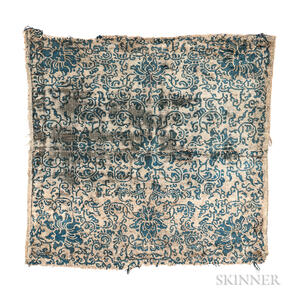 Chinese Silk Rug Fragment