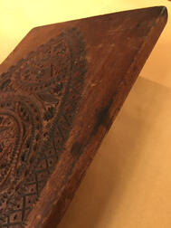 Carved Mahogany Cake Board