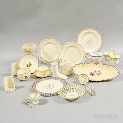 Nineteen Mostly Wedgwood Creamware Items