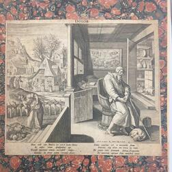 Old Master Prints, Album of 16th Century Engravings.
