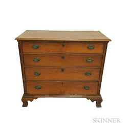Chippendale Cherry Chest of Drawers