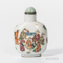 Famille Rose Porcelain Snuff Bottle