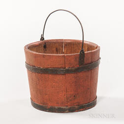 Miniature Red-painted Bucket